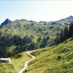 Blick von der Gondelbahn zu Burtschakopf und Ameisspitze