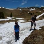 Schnee auf der Ob. Saluveralpe