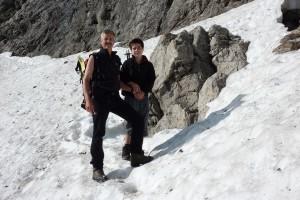Mit Pascal auf dem Weg zur Totalphütte auf 2381m im Rätikon