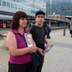 Bahnhof Innsbruck, warten auf den Railjet
