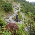 Freitag Nachmittag - mit Norbert noch im Galinatal um unser Fohrenburger Fässle dort einzukühlen - beim aktuellen Regenwetter einfach