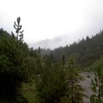 Es nieselt im Galinatal - nichts wie talwärts in die warme Stube auf der Bazora