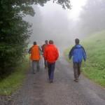 Um 11:00 Uhr - immer noch Nebel, wir wandern über Gurtis ins Galinatal