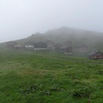 Ferienhütten auf der Gamp - heute leider im Nebel