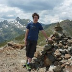 Im Hintergrund das spitze Weißhorn
