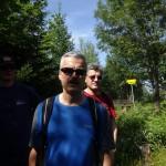 Abstieg nach Pinswang westseitig durch den schattigen Wald