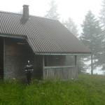 Im Regen auf der Spitztäle Jagdhütte