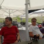 auf der herrlichen Sonnenterrasse des Restaurant Alpenrose am See